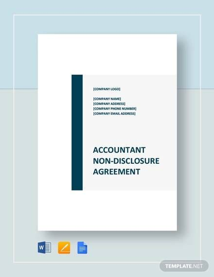 Accountant Non Disclosure Agreement Template For Non Disclosure Agreement Between Companies