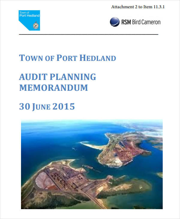Audit Planning Memo for Audit Memo