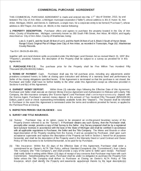Basic Commercial Purchase Agreement For Truck Lease Agreement