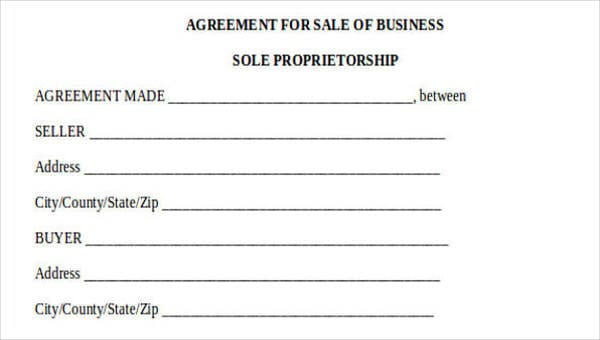 Business Agreement Forms For Business Agreement Form