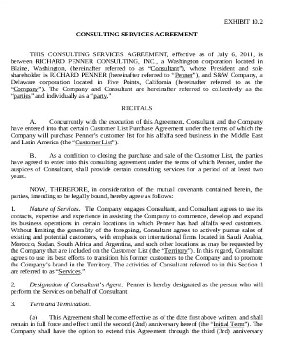 Business Consultant Commission Agreement For Business Consultant Agreement