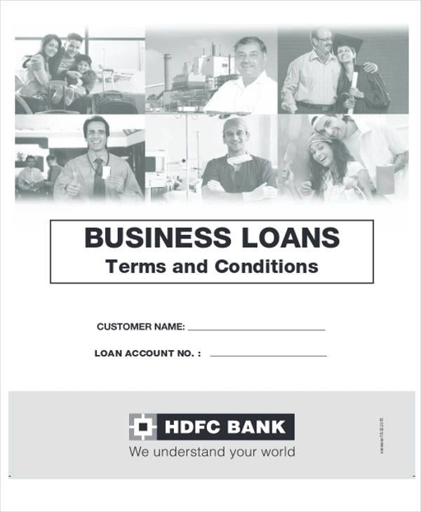Business Loan Agreement Form For Business Agreement Form