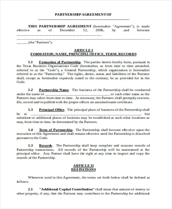 Business Partnership Operating Agreement For Business Operating Agreement