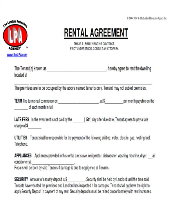 Commercial Lease Agreement Free For Free Sample Agreements