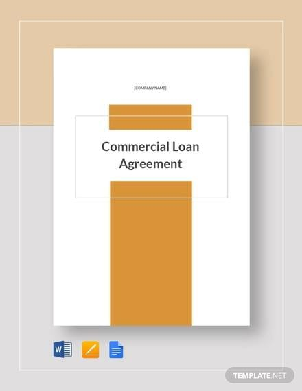 Commercial Loan Agreement Template For Commercial Loan Agreement