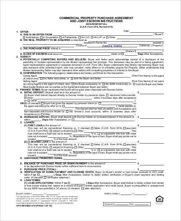 Commercial Property Purchase Agreement For Truck Lease Agreement