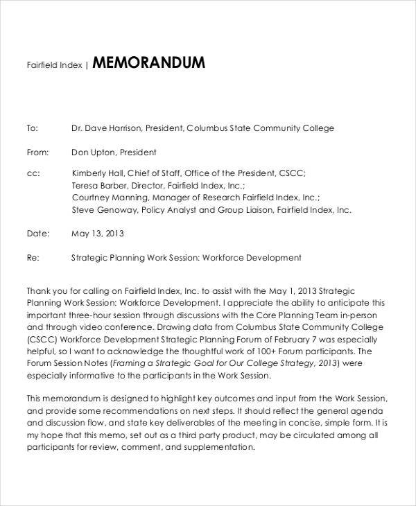 Community College Strategy for strategy memos