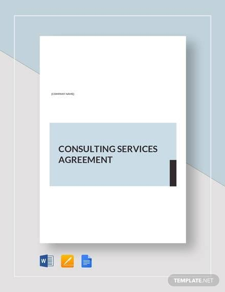 Consulting Services Agreement For Master Consulting Agreement
