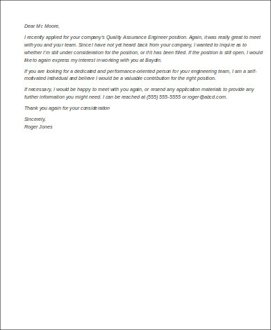 Follow Up Email After Interview No Response for Follow Up Email After Interview