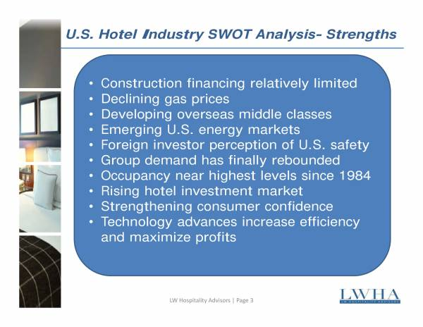 Hotel Industry SWOT Analysis Sample for Hotel Swot Analysis Samples Templates