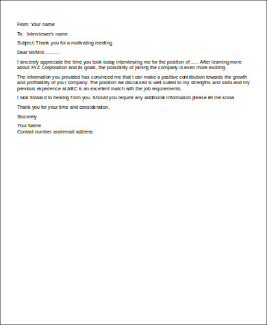 Job Interview Follow Up Email Sample for Follow Up Email After Interview