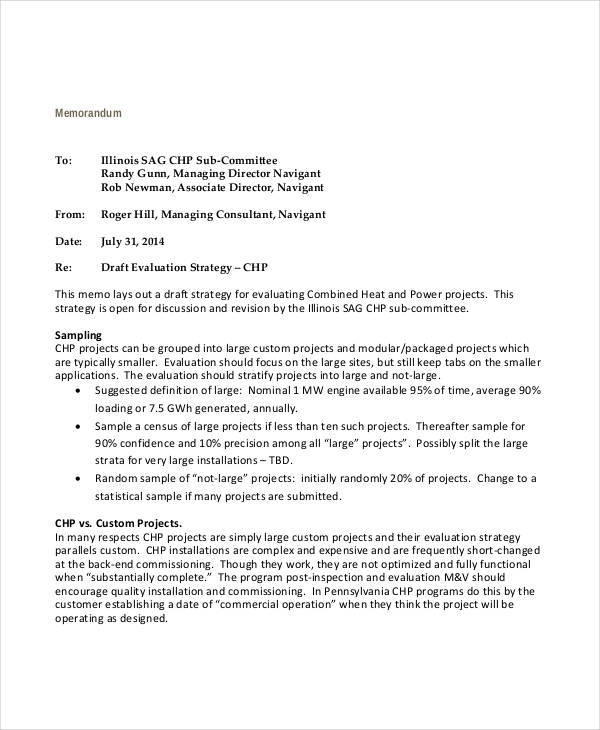 Memo for Strategy Evaluation for strategy memos
