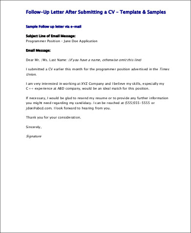 Post Interview Follow Up Email Sample PDF for Follow Up Email After Interview
