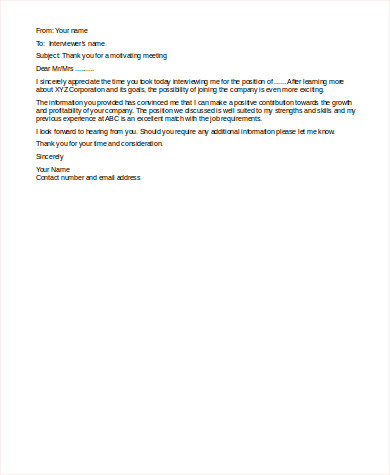 Sample Follow Up Job Interview Email for Follow Up Email
