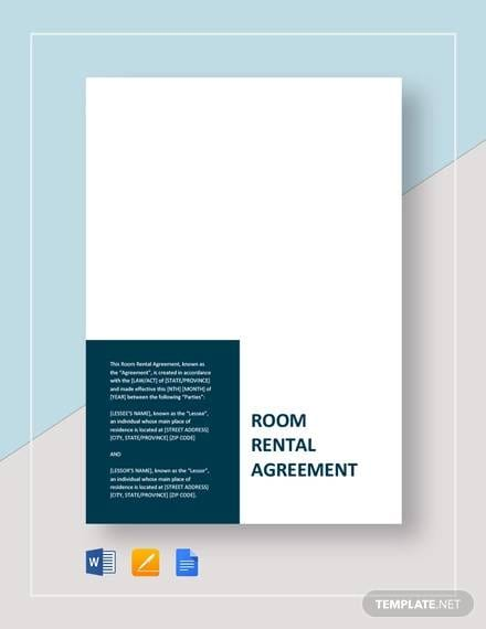 Sample Room Rental Agreement Template for Car Purchase Agreement