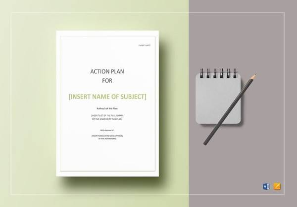 Action Plan Template For Sample Personal Action Plan