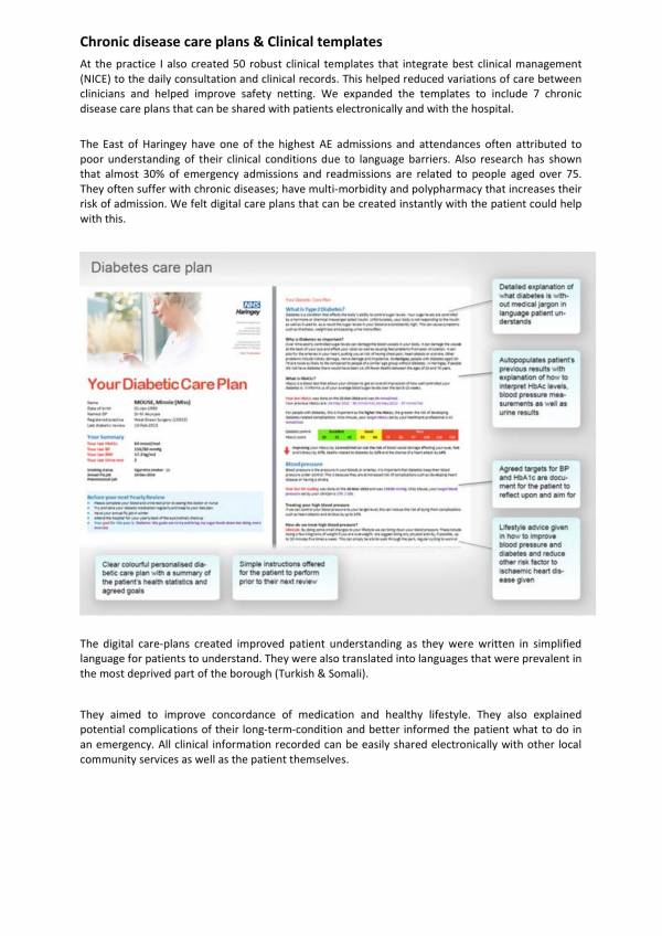 Chronic Diseases Care Plan And Clinical Templates 1 For Patient Care Plan Template Pdf Word
