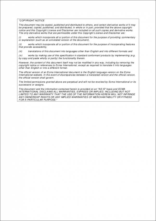Copyright Notice Sample in PDF for copyright notice samples