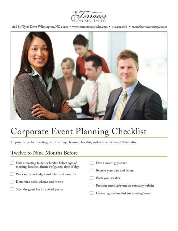 Corporate Event Planning Checklist for free checklist templates