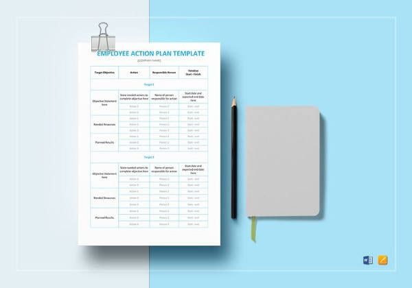 Employee Action Plan Template1 For Sample Personal Action Plan