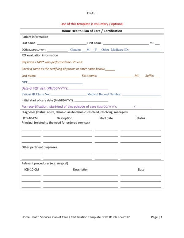 Home Patient Care Plan Template 2 For Patient Care Plan Template Pdf Word