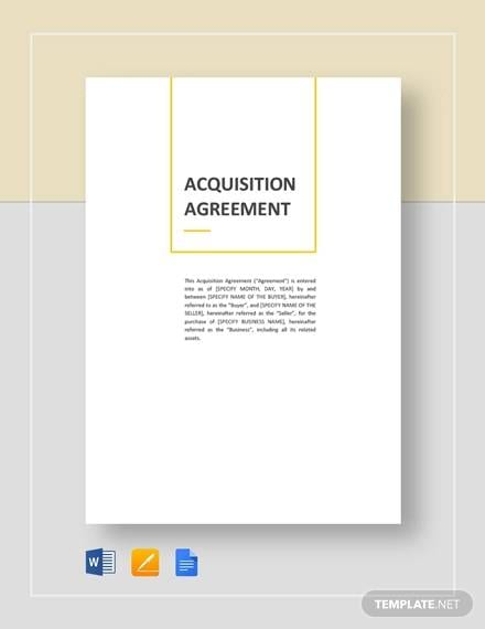Acquisiton Agreement For Acquisition Agreement Samples