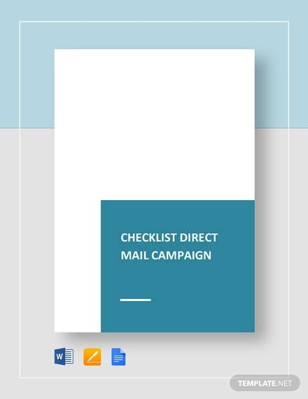 checklist direct mail campaign for word checklist templates