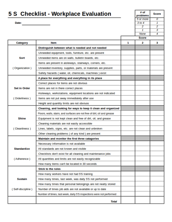S Checklist Template For Excel Checklist Templates