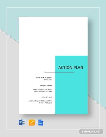 Action Plan Template for Action Plan In Pdf