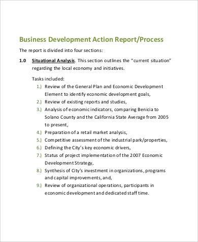 Business Development Action Plan for Action Plan In Pdf