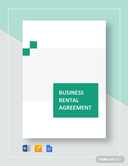 Business Rental Agreement Template for Business Rental Agreement Template