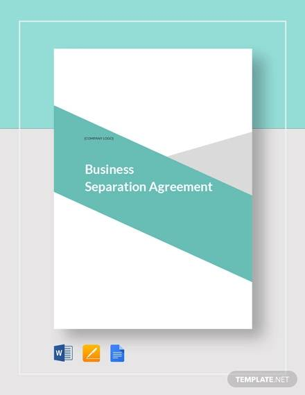Business Separation Agreement Template for Separation Agreement Templates