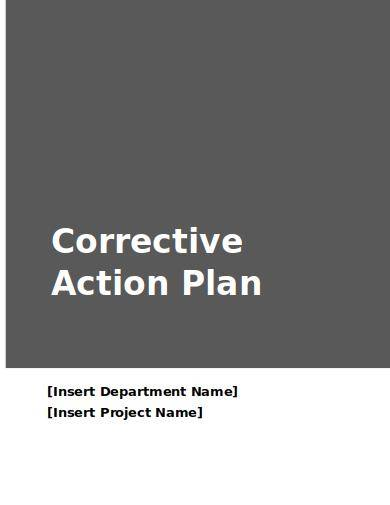 Corrective Action Plan Template With Instructions for Corrective Action Plan Samples