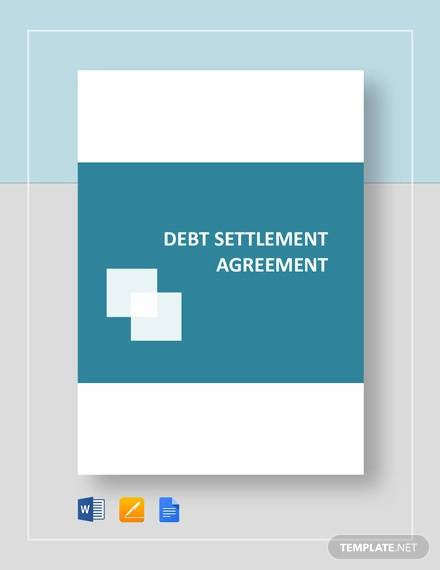 Debt Settlement Agreement Template for Settlement Agreement