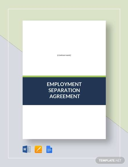 Employment Separation Agreement Template for Separation Agreement Templates