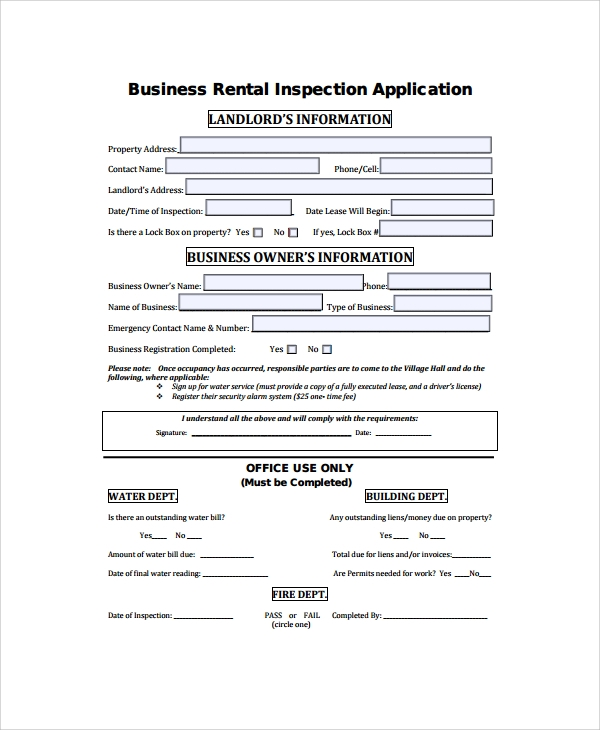 Free Business Rental Agreement for Business Rental Agreement Template