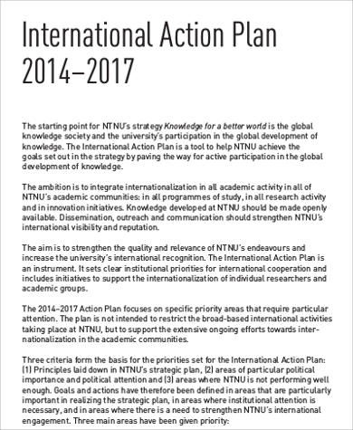 International Students Action Plan for Business Action Plan