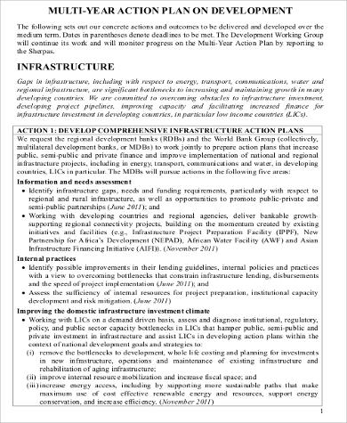 Multi Year Action Plan for Development for Business Action Plan