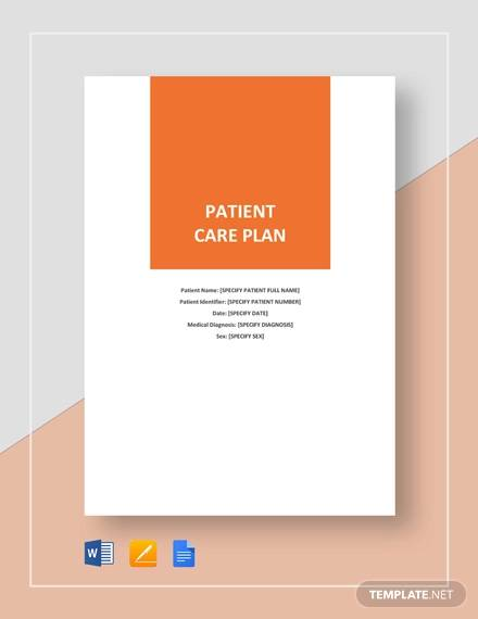Patient Care Plan Template for Patient Care Plan Template Pdf Word
