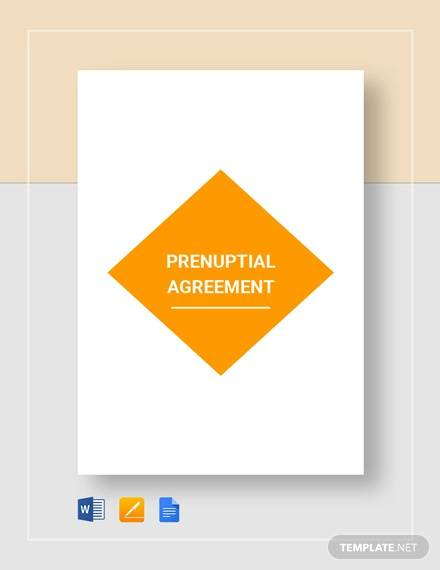 Prenuptial Agreement Template for Prenuptial Agreement Samples