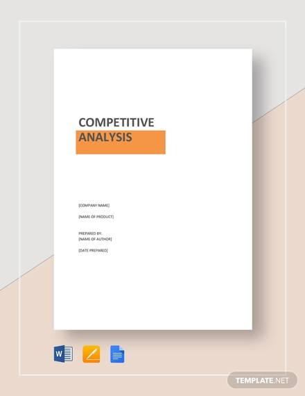 Product Competitive Analysis for sample competitive analysis