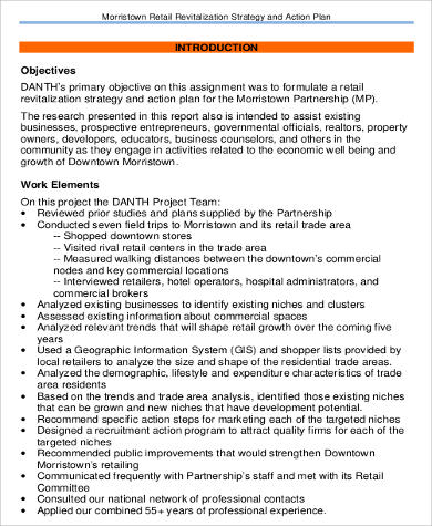 Retail Strategy Action Plan for Business Action Plan