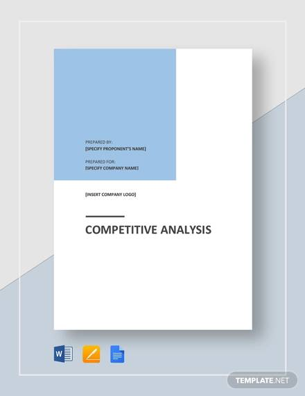 Sample Competitive Analysis Template for sample competitive analysis