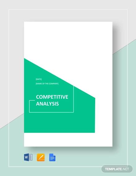 Sample Competitive Analysis for sample competitive analysis