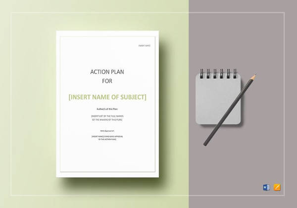 Simple Action Plan in Word for Sample Smart Action Plan