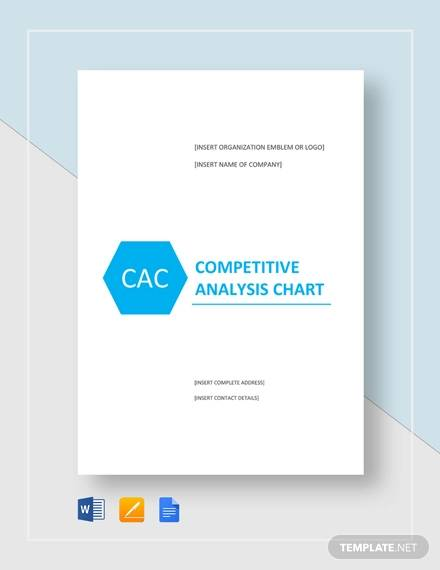 Simple Competitive Analysis Chart for sample competitive analysis