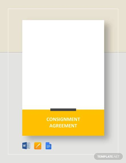 Simple Consignment Agreement Template for Consignment Agreement Examples And Templates