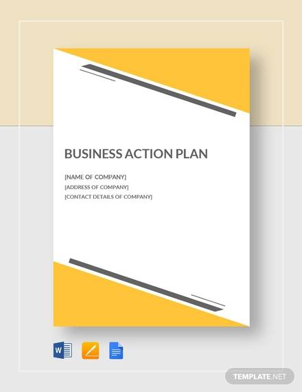 Small business Action Plan for Example Of Action Plan