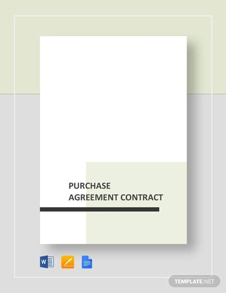 purchase agreement contract for Purchase Agreement Contract