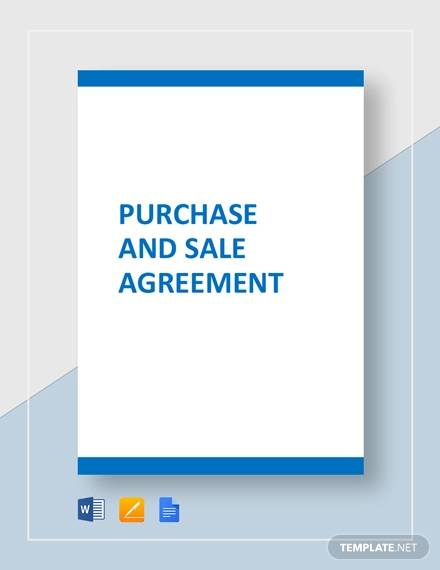 purchase and sale for Purchase Agreement For Business